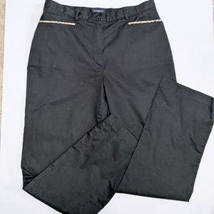 Burberry golf black pants excellent shape size 8